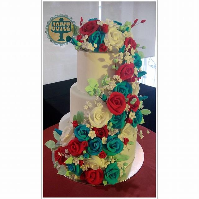 3-Tier Birthday Cake by Sugar and Spice by Joyce