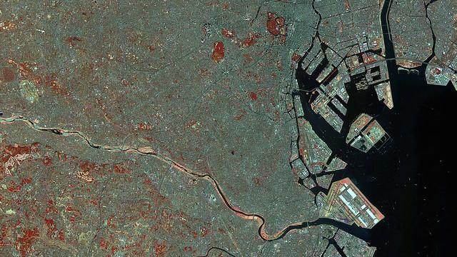 東京衛星写真1