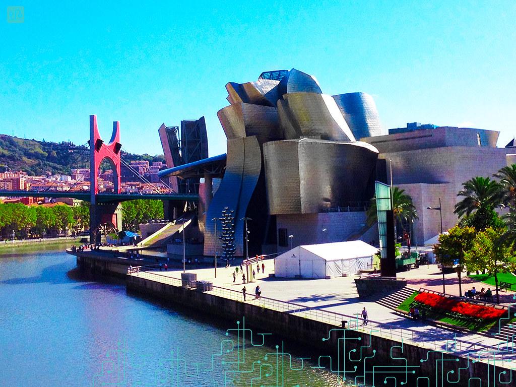 Museu Guggenheim, ao lado da ´Ría de Bilbao´