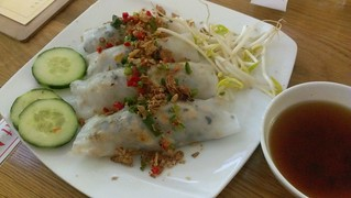 Steamed Rice Rolls with Mushroom Mince at Loving Hut Northcote
