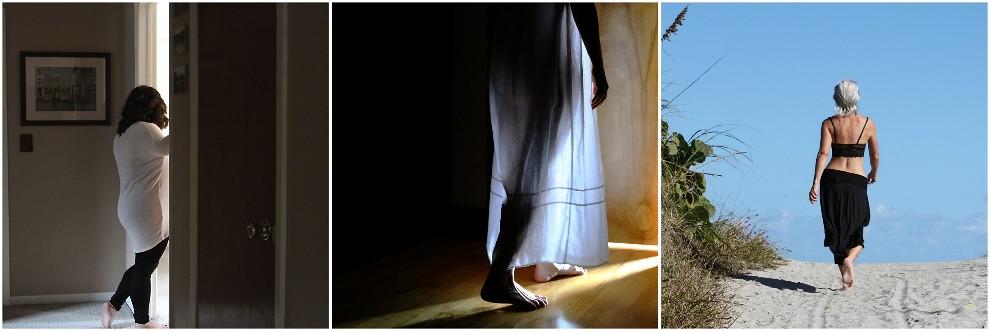 She walked away ~ December 2014 triptych