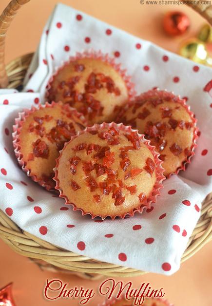 Glace Cherry Muffins Recipe
