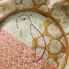 #putabirdonit bedtime embroidery quilting. #htwipit