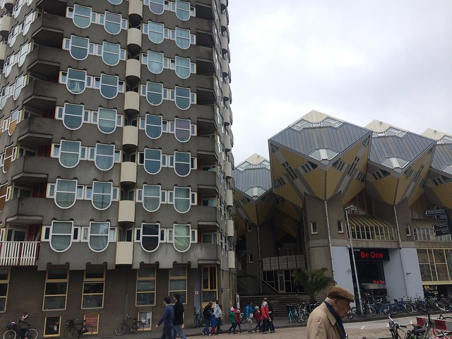 some cool architecture in Rotterdam
