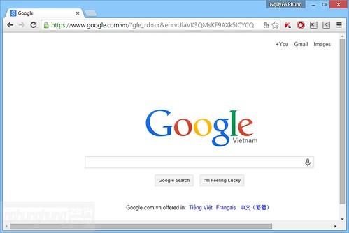 Giao diện mặc định Chrome Canary (64bit)