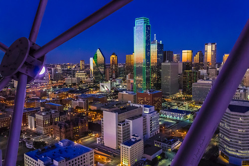 dallas dallasmavericks reuniontower bankofamericaplaza downtowndallas dallastexas dallasskyline top20texas geodeck hyatthoteldallas