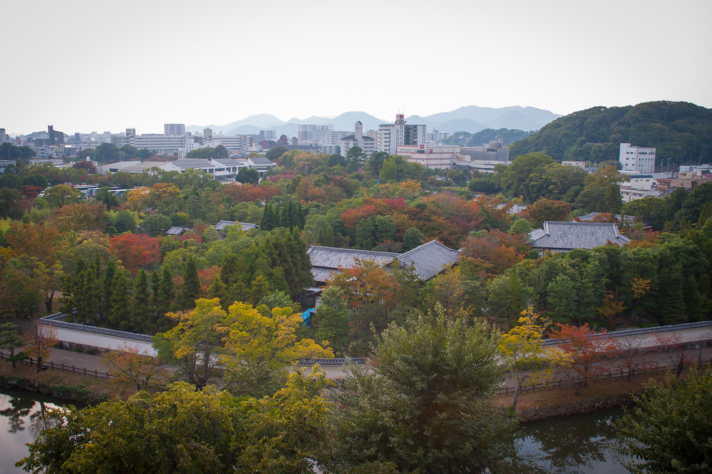 View from window of one of Himeji buildings