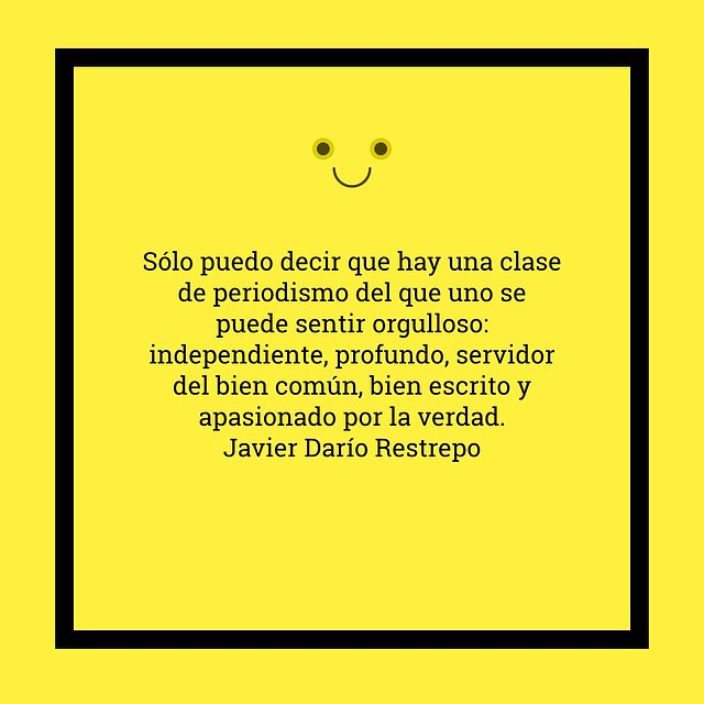 lecciones de periodismo de Javier Darío Restrepo @cdperiodismo http://www.clasesdeperiodismo.com/2014/10/30/6-lecciones-sobre-periodismo-del-maestro-javier-dario-restrepo/
