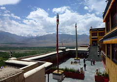 Thiksay Monastery and the view