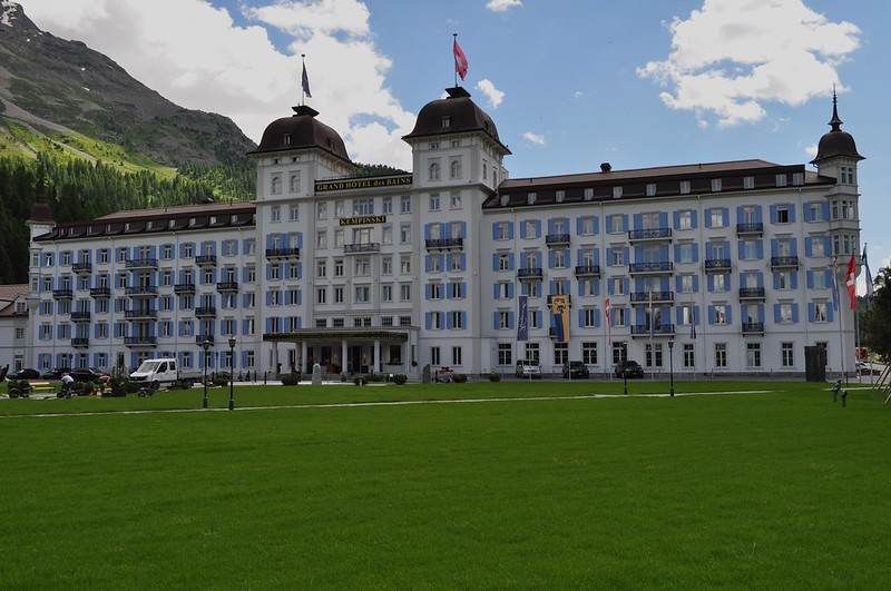 Grand Hôtel des Bains Kempinski, Saint-Moritz-Bad, district de Maloja, canton des Grisons, Suisse.