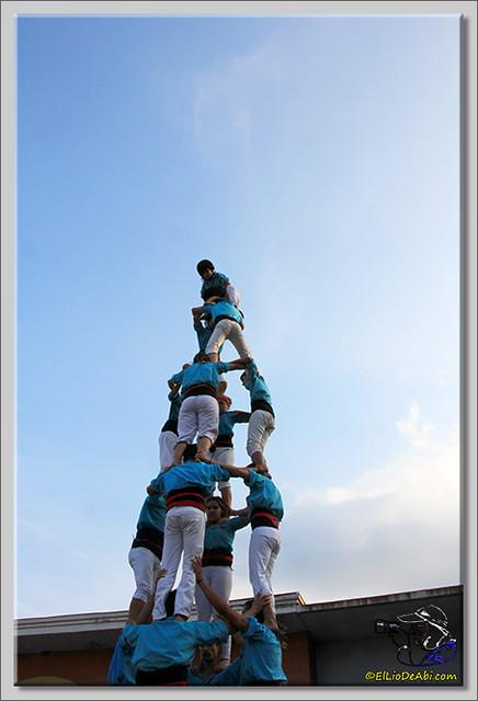 13 Castellers de Terrasa en Gallostera