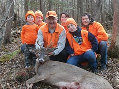 Shinkten family celebrate granddaughter Madeline Prokash\'s first buck