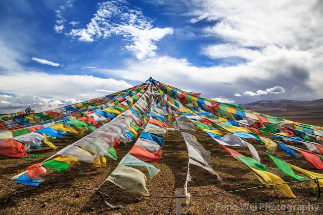 Prayer Flags @ Tangra Yumco, Tibet