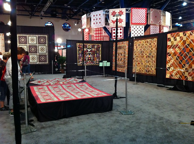 I was impressed by the variety of ways quilts were exhibited