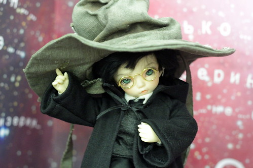 as a Harry Potter in Sorting hat. Won a prize on BJD-party