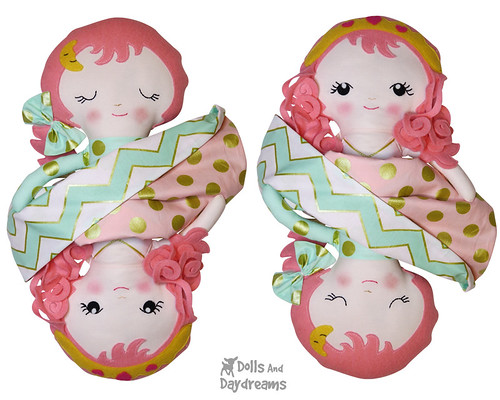 Sleeping Beauty Topsy Turvy Doll Sewing Pattern