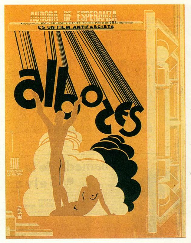 Aurora de esperanza movie poster by Josep Renau, 1937