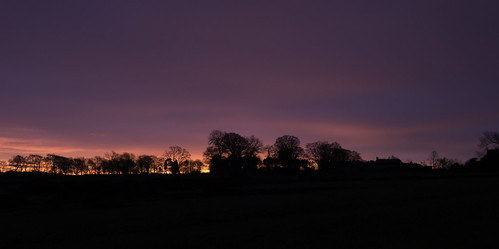 morning winter red sky silhouette sunrise december ponteland darrashall