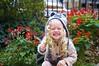 Tegan in Front Garden
