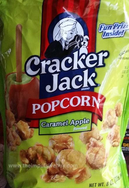 Cracker Jack Popcorn Caramel Apple