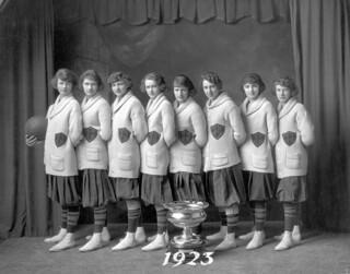 Edmonton Commercial Grads Basketball Team, First winners of Underwood International Trophy.