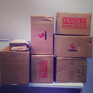 Это неловкое чувство, когда под твое барахло на #почта отвели отдельный угол #посылка #post #box