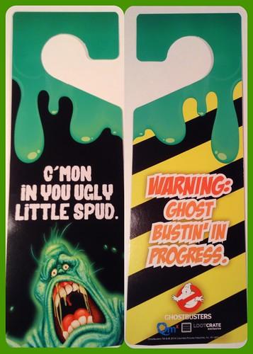 Loot Crate Anniversary Ghostbusters Door Hanger