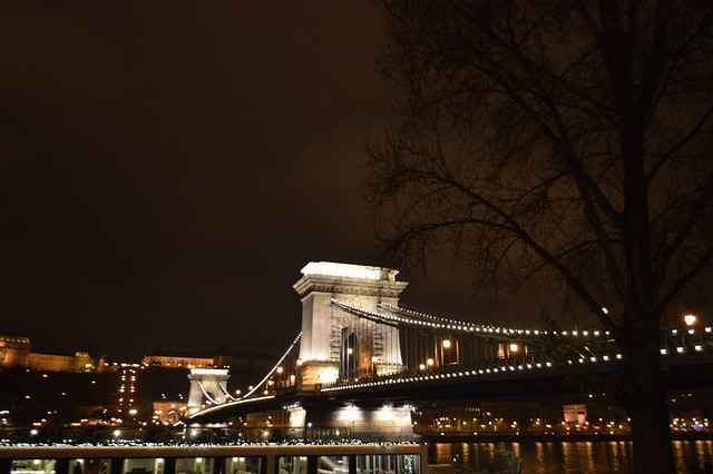 this is a picture of the Chain Bridge in Budapest