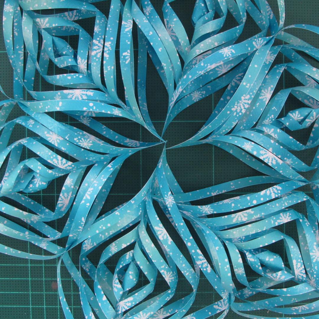 วิธีทำดาวกระดาษรุปเกล็ดหิมะ สำหรับแต่งบ้าน ช่วงเทศกาลต่างๆ (Paper Snowflake DIY) 017