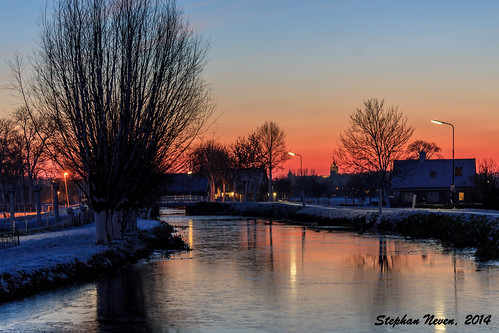 winter sunset red sky snow cold tree tower ice church water netherlands silhouette landscape frost sneeuw clear freeze lucht polder ijs krimpenerwaard schoonhoven groenehart cabauw