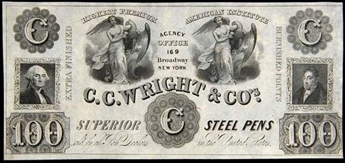 C.C. Wright advertising note