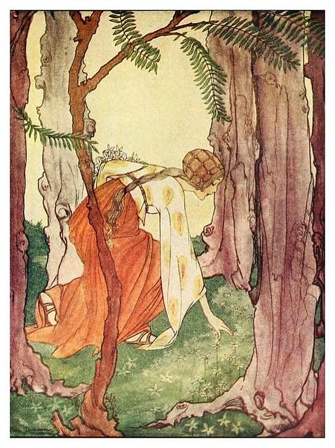 006-Los seis cisnes-Grimm's fairy tales-1927-Ilust. Rie Cramer