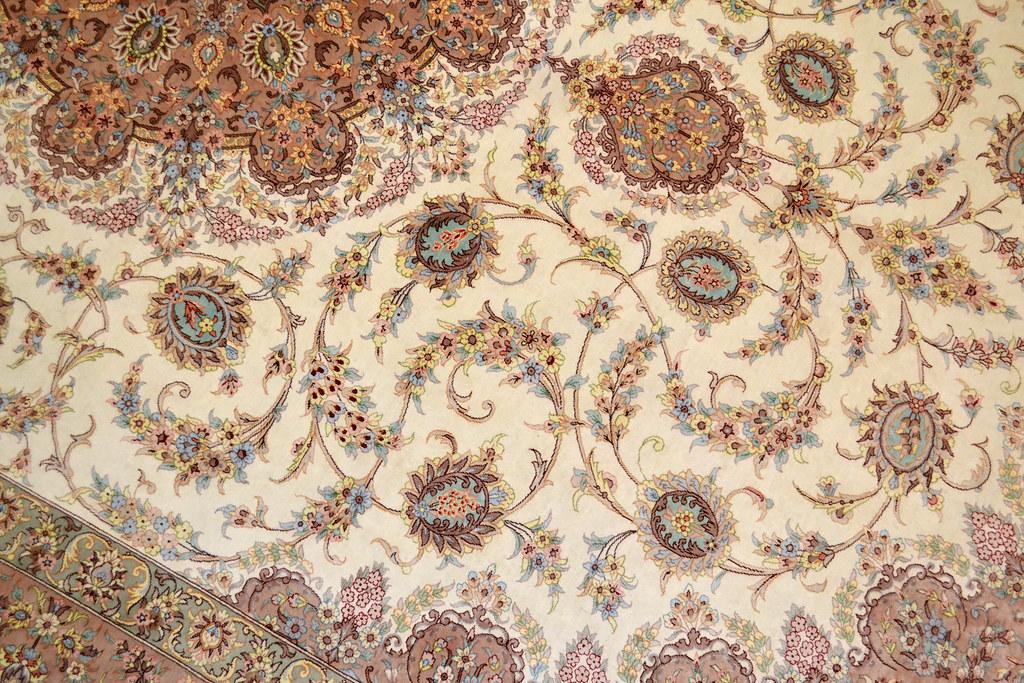 Qum Pure Silk 7x10 Persian Rug (9)