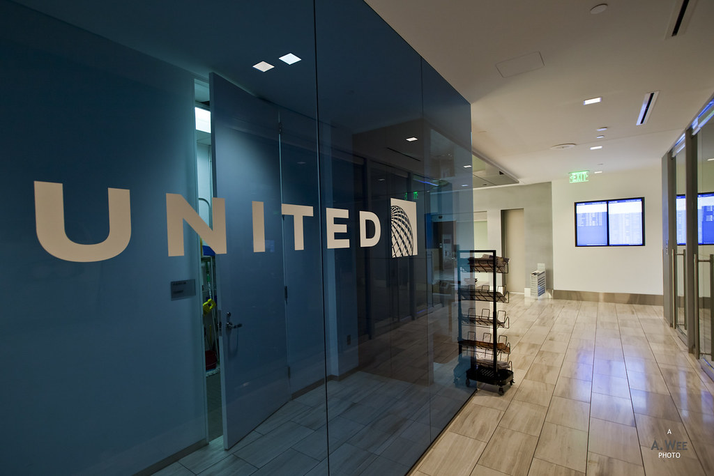United logo in the corridor
