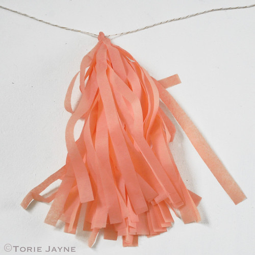 Tissue paper tassel garland tutorial 12