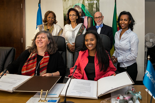 Hannah Godefa's Ambassadorship renewal ceremony with UNICEF Ethiopia