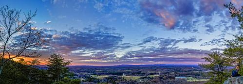 3xp hdr indianseats sawnee sawneemountain panaroma peaceful sunset view mountain