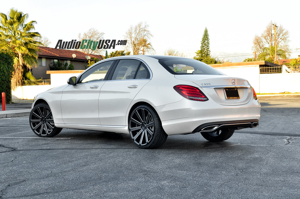 2015 mercedes benz c 300 w205 on 20 gianelle santoneo for Mercedes benz c300 black rims