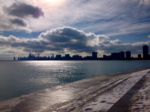winter lake chicago mobile lakemichigan lakeshore montroseharbor lakefront iphone mobilephotography iphoneography mobiography