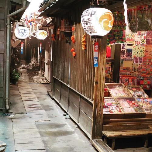 懐かしい、昭和の路地の雰囲気。