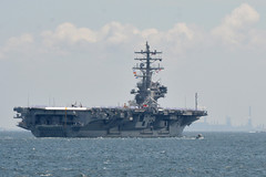USS Ronald Reagan (CVN 76) departs Yokosuka, Japan, June 4 for a regional patrol. (U.S. Navy/MC2 Peter Burghart)