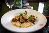 Cajun Alligator - Flash Fried, Creole Sauce, Scallions, and Rice - The Dancing Fig