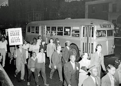 Protesting Capital Transit's Jim Crow hiring policies: 1943