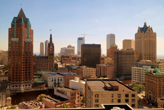 A view of downtown Milwaukee