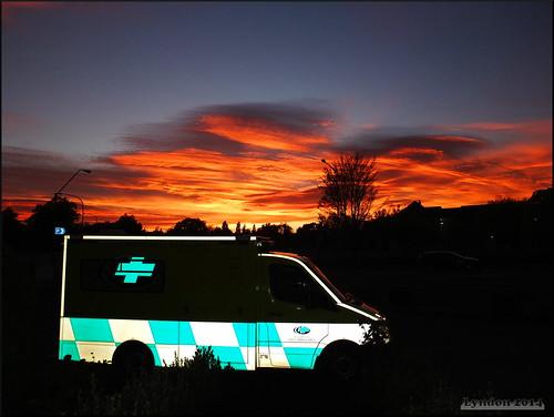 newzealand reflection nature sunrise work outdoors dawn fuji gimp ambulance masterton wairarapa xs1 fujifilmxs1