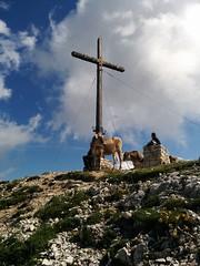 Gipfelkreuz Strudelkopf mit Empfangskomitee