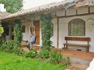 Relaxing in the Garden at Hotel Cuello de Luna