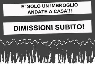 Noicattaro. Manifesto protesta dimissioni front