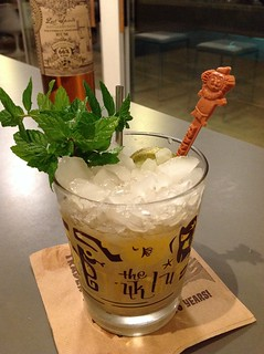Mai Tai with Denizen Reserve, Clement Select Barrel, float Lost Spirits Polynesian rum, coconut orgeat, Clement Creole Shrubb, lime juice