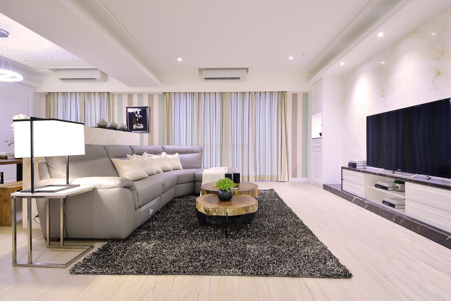 【住宅設計】林口冠東方黃公館-美式簡約居家風客廳1
